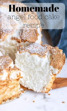 Homemade angel food cake recipe Ingredients Vegetarian ∙ Serves 12 Refrigerated 12 Egg whites from large eggs Baking & spices Cake Mix Cookies, Cookies Et Biscuits, Cake Pops, Just Desserts, Delicious Desserts, Homemade Cakes, Homemade Recipe, Homemade Food, Savoury Cake