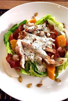Salade de poulet grillé, vinaigrette à l'estragon
