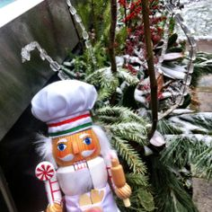 #CookingNutcracker hanging out in @the_teahouse garden after a fresh dusting of #snow! #snowday #winterwonderland