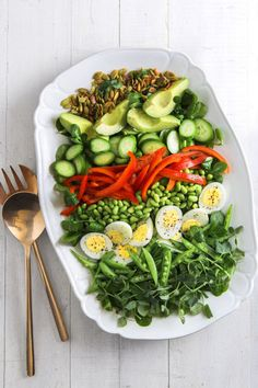 Get your daily dose of veggies with this fresh and colorful salad.