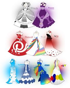 Funny Social Media Dresses << I want there to be a drawing of the personified social media sites posing in these dresses! App Drawings, Cute Drawings, Art Sketches, Dress Sketches, Dress Drawing, Drawing Clothes, Social Media Art, Illustration Mode, Anime Outfits