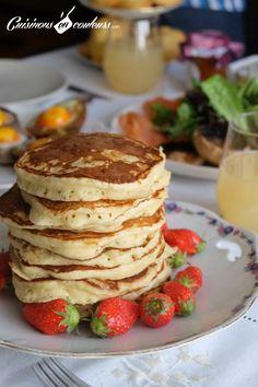Les pancakes fondants de Martha Stewart Martha Stewart's pancakes – Cooks In Colors Martha Stewart Pancakes, Martha Stewart Cooking, Martha Stewart Recipes, Strawberry Dessert Recipes, Apple Dessert Recipes, Pancake Recipes, Fondant, Apple Recipes Easy, Healthy Recipes