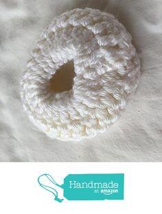 White Crocheted Scrunchie from Southern Women Crafts https://www.amazon.com/dp/B01KS7PZ7C/ref=hnd_sw_r_pi_dp_qIP8yb3V2HVE7 #handmadeatamazon