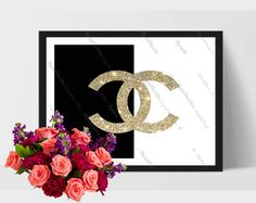 "Coco Chanel Printable of ""Coco Chanel 04"" Modern, Digital, Comercial Use by DigitalPrintStore on Etsy"