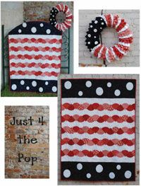 Just 4 Fun Set of 4 Quilts and Matching Wreaths Pattern Book. Celebrate Spring with flowers and smiles, Summer with a patriotic pop, Halloween with a little squeal of fright, and Christmas with all the joy the season brings. http://www.kayewood.com/item/Just_For_Fun_Set_of_4_Quilt_and_Matching_Wreath_Pattern_Book/2951 $20.00
