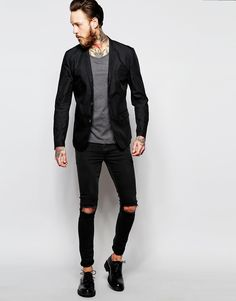 Image 4 ofAntony Morato Lightweight Blazer in Super Slim Fit