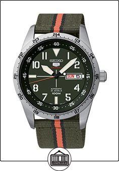 Seiko Automatic - Reloj de automático para hombre, con correa de tela, color verde de ✿ Relojes para hombre - (Gama media/alta) ✿