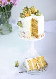 Kokosově-kokosový dort – Máslová brioška Vanilla Cake, Cake Decorating, Decorating Ideas, Cakes, Cake Makers, Kuchen, Cake, Pastries, Cookies
