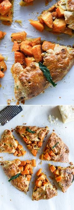 Parmesan Crusted Butternut Squash Galette I http://howsweeteats.com