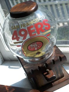 Your place to buy and sell all things handmade Nfc Teams, Peanut Candy, Forty Niners, Man Cave Room, 49ers Fans, Candy Dispenser, Gumball Machine, San Francisco 49ers, Decorating Tips