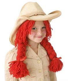 tutorial for yarn wig with braids