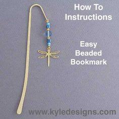 Easy Beaded Bookmarks DIY Crafts Project: Do-It-Yourself Beaded Shepherd Hook Bookmark