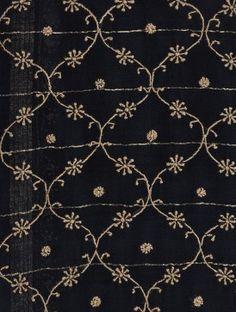 Black Chanderi Saree - like the pattern