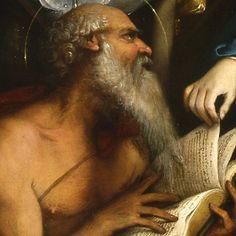 Lorenzo Lotto - Matrimonio mistico di Santa Caterina d'Alessandria e santi (dettaglio) - olio su tela - 1524 - Galleria nazionale d'arte antica a Palazzo Barberini, Roma.