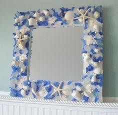 Seashell Mirrors for Beach Decor - Nautical Shell
