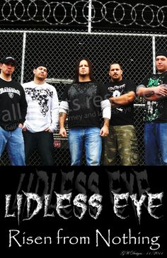 Lidless Eye - Roseburg, OR their first poster growing up rocking out partying  that killer hill