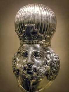 Head of a king, possibly Shapur III Sasanian of Iran, 4th century A.D.