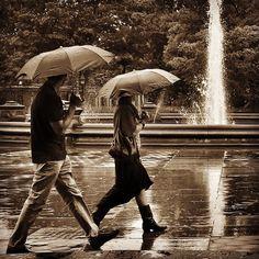 Washington Square Park Rain