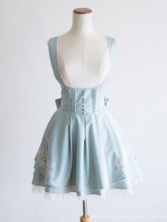 Secret Honey Margaret Embroidery JSK OP Jumper Dress Sweet Lolita Kawaii Japan #SecretHoney #JSKJumperdressPeplumTunic #Shibuya109Lolitafashion