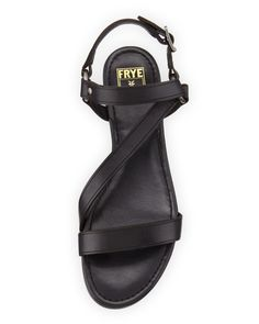The Original Celebrity Shoes Site * Since 2005 Leather Sandals Flat, Flat Sandals, Celebrity Shoes, Shoe Sites, Frye Shoes, Ring, Celebrities, Rings, Celebs