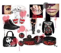 """""""Emo Stylin"""" by gummybear53 ❤ liked on Polyvore featuring Converse"""
