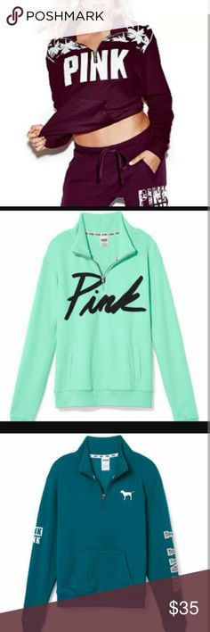 Vs half zips ISO ISO please help me find this ill trade anything in my closet for this PINK Victoria's Secret Sweaters