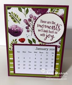 Stamp With Anne! - Anne Granger, Independent Stampin' Up! Canada Demonstrator Stamp With Anne! Making Gift Boxes, Making Ideas, Card Making, Scrapbook Paper Crafts, Scrapbook Cards, Scrapbooking, Desk Calendars, Desktop Calendar, Hand Stamped Cards