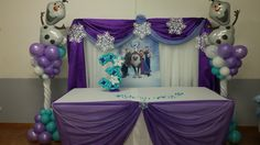 Frozen party head table