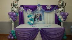 Frozen party head table