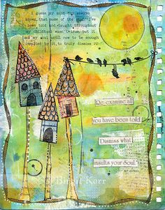 Re-Examine All art journal page by Birgit Kerr