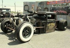 Afternoon Drive: Hot Rods & Rat Rods Photos) - A hot rod is a specific type of automobile that has been modified to produce more power for racing straight ahead. The hot rod originated in the early. Rat Rod Trucks, Rat Rods, Old Trucks, Lowered Trucks, Truck Drivers, Diesel Trucks, Chevy Trucks, Dodge, Traditional Hot Rod