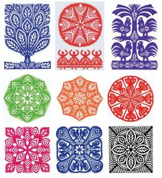 Folk Art Patterns Printable | Polish Folk Art