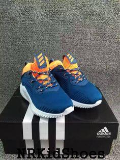 642c1ce829f7c Kids adidas Yeezy boost 330 Blue Orange Shoes