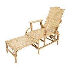 Chaise longue en rotin L 149 cm