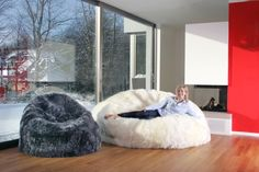 JUMBO & Large Sheepskin BEAN BAGS!   Free Shipping!  Check them out...Luxurious comfort for your home decor.  Unique conversation pieces.   RELAX....
