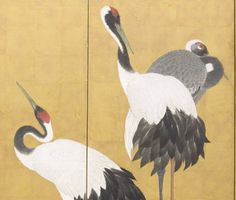 Cranes | LACMA Collections Cranes Maruyama Ōkyo (Japan, 1733-1795) Japan, 1772, An'ei period (1772-1780) Paintings; screens Pair of six-panel screens; ink, color, and gold leaf on paper a-b) Mount: 67 1/4 x 137 3/4 x 3/4 in. (170.82 x 349.89 x 1.91 cm) each Gift of Camilla Chandler Frost in honor of Robert T. Singer (M.2011.106a-b) Japanese Art