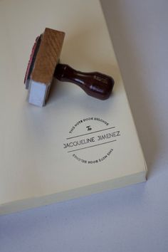 Personalized Rubber Stamp Custom Name Ex libris on Etsy, $20.17