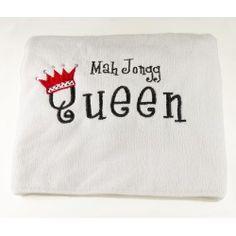 """Mah Jongg Queen Cotton towel measures 25"""" x 16"""""""
