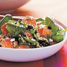 Couscous, Sweet Potato, and Black Soybean Salad Recipe | MyRecipes.com