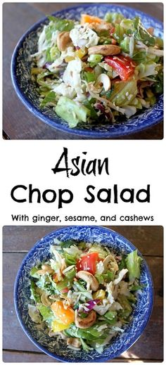 A simple, fresh and tasty chop salad that is a great side dish, or a fantastic vegetarian main dish!