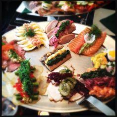 Smørrebrød Platter (Danish open sandwich)