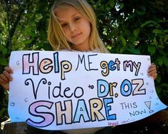 Spread the word! Share this 8-year old girl's video letter to Dr. Oz! Sustainable farming matters. Pass it on!