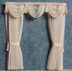 ... for a double window, is simply elegant, for any room in your dollhouse...DOLLHOUSE DRAPES & CURTAINS