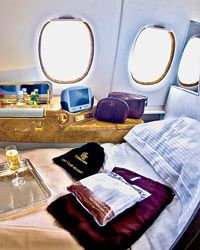 Emirates first-class...