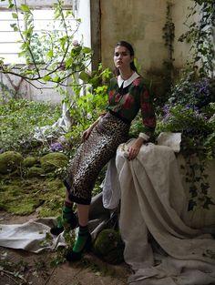 """Wild Garden"" | Model: Vanessa Moody, Photographer: Camilla Akrans, Vogue China, August 2016"