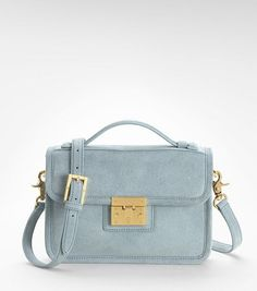 Small Suede Briefcase   Womens Top Handles & Shoulder Bags   ToryBurch.com