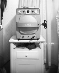 A machine that was once used by doctors to sterilize their needles.