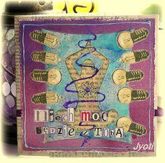 "work by Jyoti with 3rd Eye #stamps ""lightbulbs"" * #stamp #stamping #craft #light <3 http://3rdeyecraft.com/ <3 #stamping #stamp #craft"