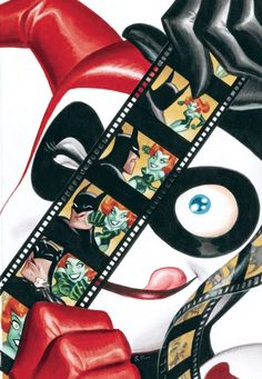 Harley by Bruce Timm. >>> My daughter is so like Harley Quinn.
