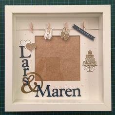 Geldgeschenke - Bilderrahmen zur Hochzeit - ein Designerstück von kikichen13 bei DaWanda